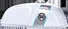 Tanque de combustível na cor Ice Queen