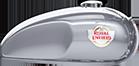 Tanque de combustível na cor Silver Specter